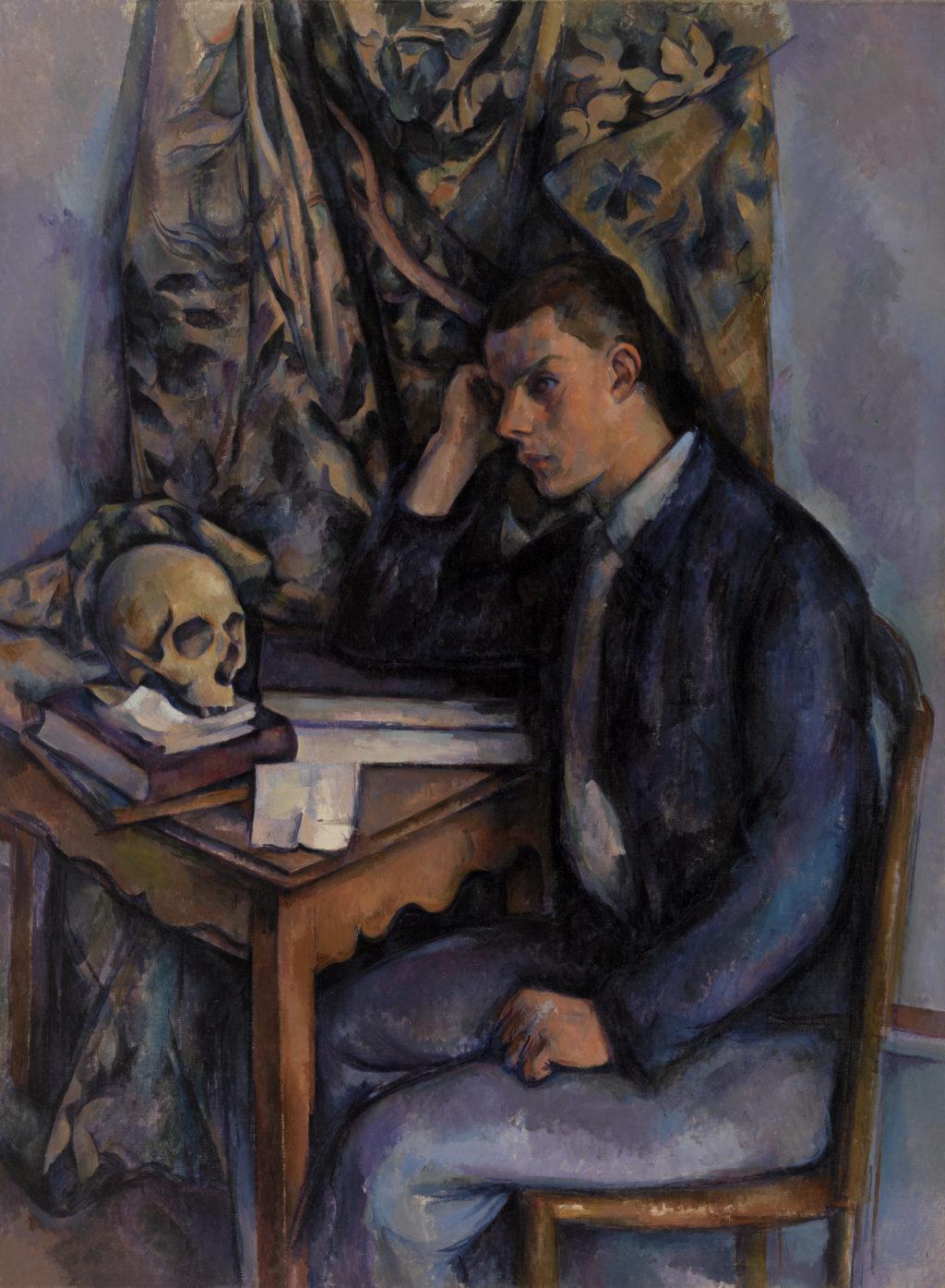Young Man and Skull (Jeune homme à la tête de mort)