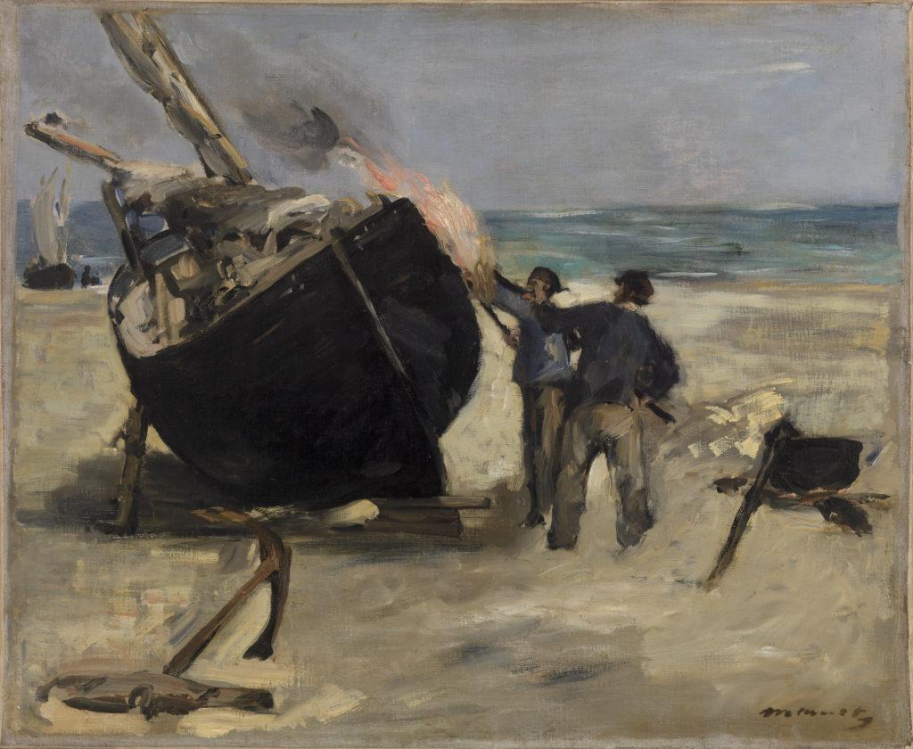 Tarring the Boat (Le Bateau goudronné)