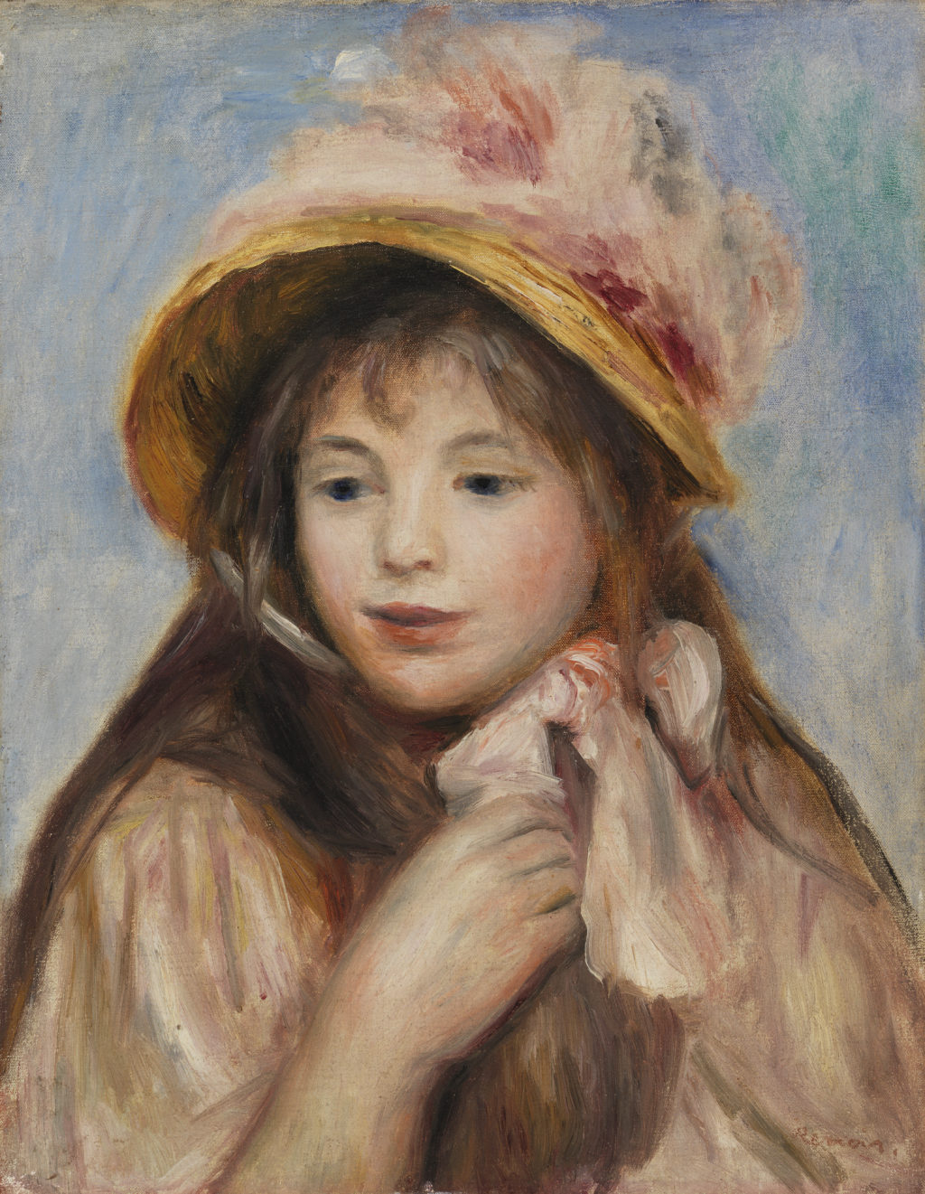 Girl with Pink Bonnet (Jeune fille au chapeau rose)
