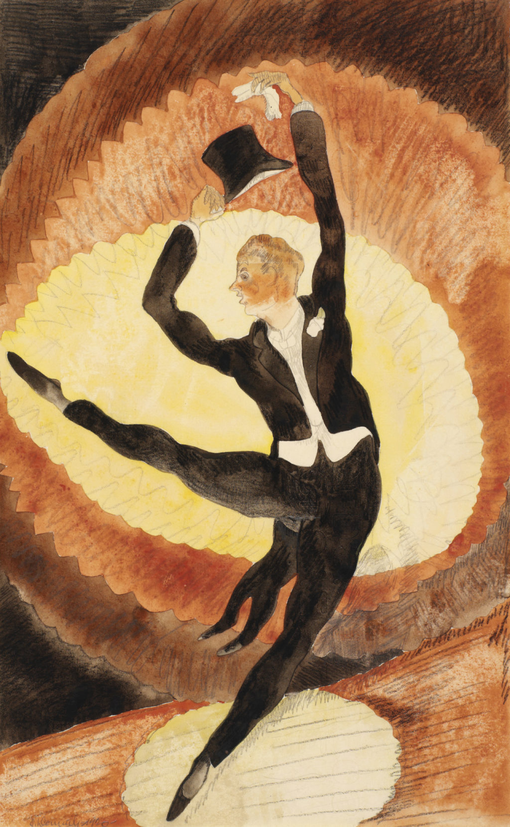 In Vaudeville: Acrobatic Male Dancer with Top Hat